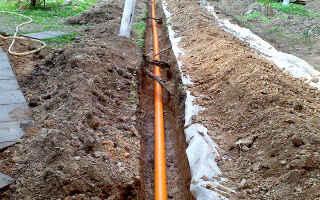 Прокладка канализационных труб под землей