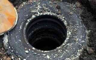 Как сделать канализацию из колес своими руками
