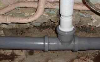 Как врезать в канализационную пластиковую трубу чугунную