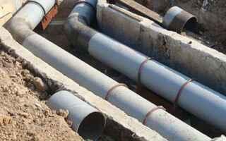 Какую трубу можно использовать для канализации под землей
