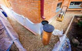 Как отвести воду от фундамента дома: устройство дренажа своими руками