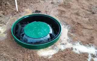 Как сделать септик из бетонных колец при высоком уровне грунтовых вод