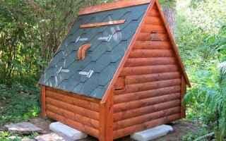 Как сделать домик для скважины на даче