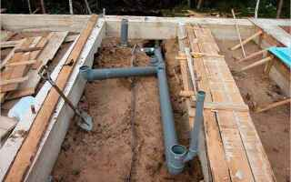 Прокладка канализации под фундаментом своими руками