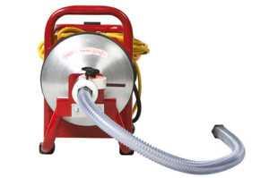 Электрическая машина барабанного типа для прочистки канализауии