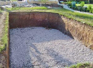 Котлованный бетонный бассейн